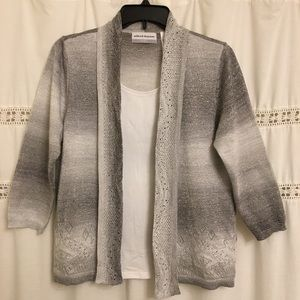 Alfred Dunner Cardigan WOMANS SIZE P/MEDIUM